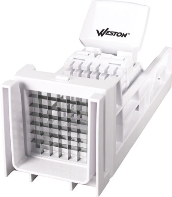 3. Weston White French Fry Cutter and Veggie Dicer