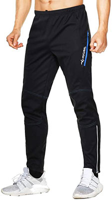 10. MUCUBAL Men's Windproof and Water-Resistant Athletic Bike Trousers for Outdoor Sports
