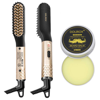 2. DOLIROX Beard Straightener for Men