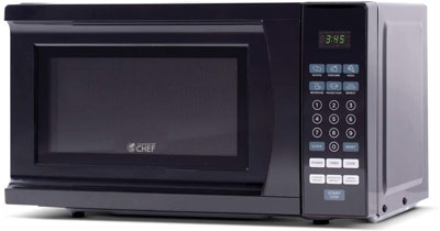 6. Commercial Chef 0.7 Cubic Feet Countertop Microwave (CHM770B)