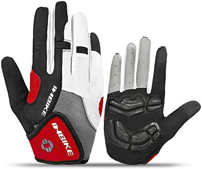 9. INBIKE 5mm Full Finger Cycling Gloves for Men Women