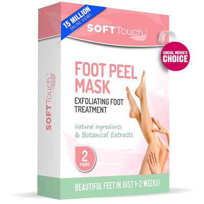 4. Soft Touch Foot Peel Mask (2 Pairs Per Box)