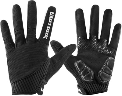 10. Kutook Full Finger Touch Screen Pad MTB Gloves for Men Women