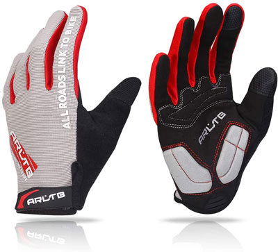 6. Arltb Full Finger Winter Bike Cycling Gloves