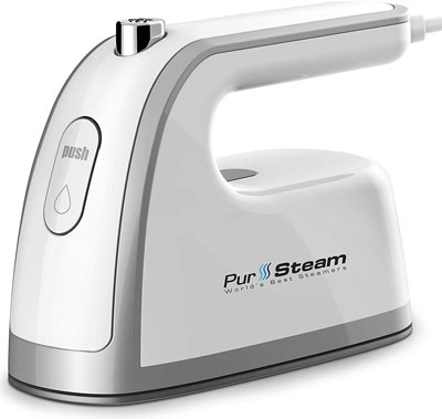 7. PurSteam Non-Stick Soleplate Travel Steamer Iron Mini