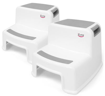 1. iLove Double Steps Toddler Stool for Toilet Potty