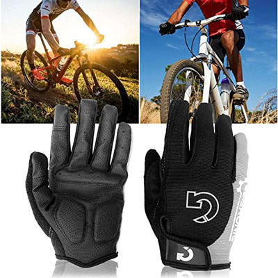 1. GEARONIC TM Cycling Full Finger Short Gloves