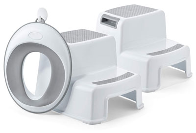 5. ACKO Dual Packs Step Stool with One Potty Toilet Seat