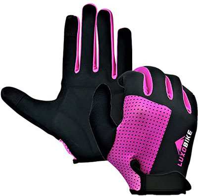 8. LuxoBike MTB Gloves for Men Biking Gloves Women
