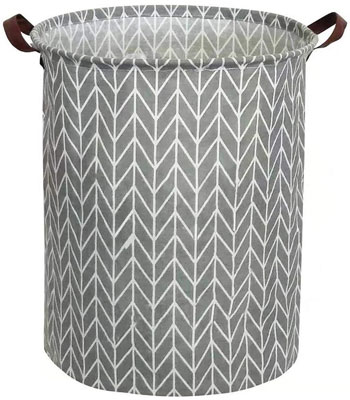 9. Tsingree Collapsible Round Laundry Hamper