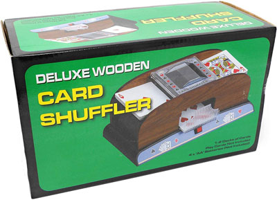 7. Tradeopia Corp. Electric Automatic Wooden Card Shuffler