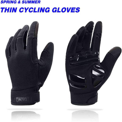 7. Aegend Adjustable Touch Screen Lightweight Cycling Gloves