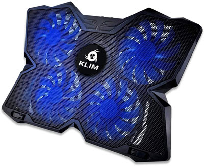 2. KLIM Wind Laptop Cooling Pad – Support 11 to 19 Inches Laptops