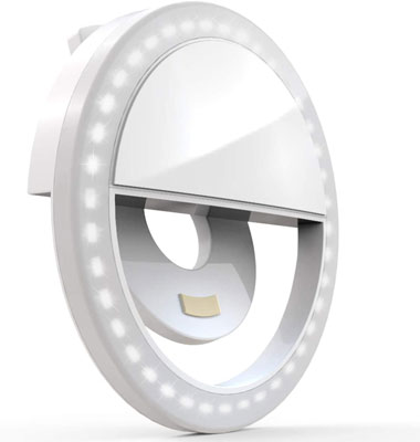 4. Auxiwa Selfie Ring Light Clip On with 36 LED