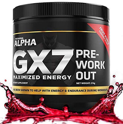 9. Alpha GX7 Pre Workout for Men and Women