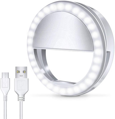 7. Meifigno Selfie Phone Camera Ring Light with 36 LED Light
