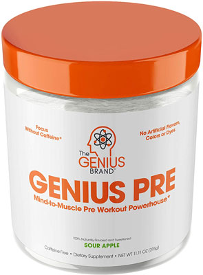 6. Genius Pre Workout Powder