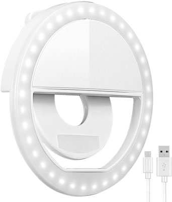 9. Oternal Clip-on Rechargeable Portable Selfie Ring Light