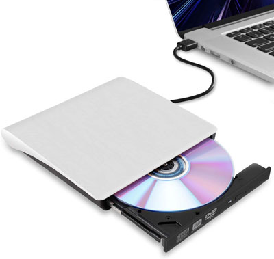 8. Hcsunfly External CD/DVD Drive