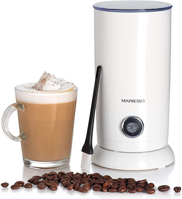 9. Mixpresso White Electric Milk Frother