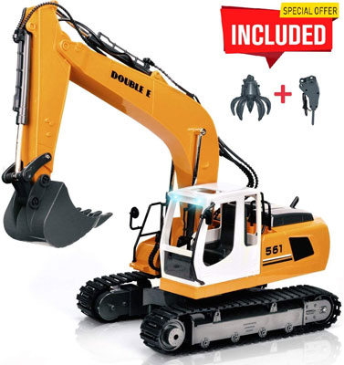 4. DOUBLE E 17 Channel Full Functional RC Excavator