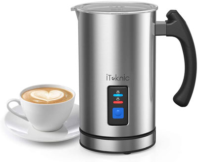 5. iTeknic Electric Milk Steamer and Frother