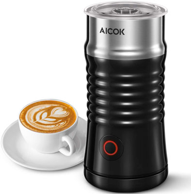 10. AICOK Electric Milk Frother Steamer