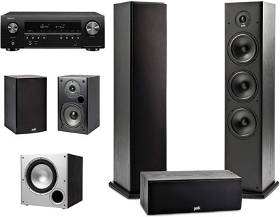 1. Polk Audio 5.1 Channel Home Theater System