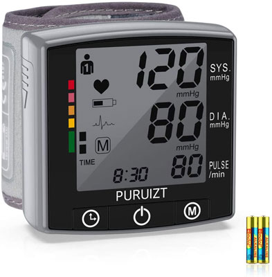 9. PURUIZT Wrist Monitor for blood pressure