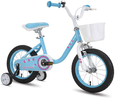 10. cycmoto Girls Bike for 3-6 Years Child Bicycle with Training Wheels