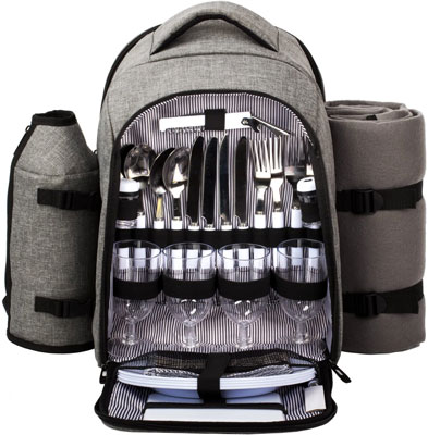 3. Hap Tim Waterproof Picnic Backpack for 4 Person
