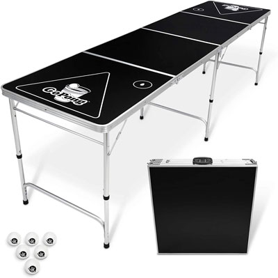 1. GoPong 8 Foot Portable Beer Pong