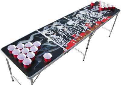8. Bones Portable Beer Pong Table