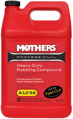 9. Mothers 81238 Professional Rubbing Compound