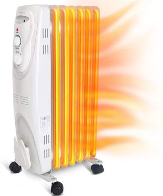 7. Aigostar 1500W Oil Filled Radiator Electric Heater