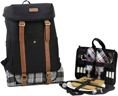 6. CALIFORNIA PICNIC Backpack for 4 Picnic