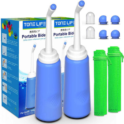 3. Tonelife 2PCS Portable Bidet