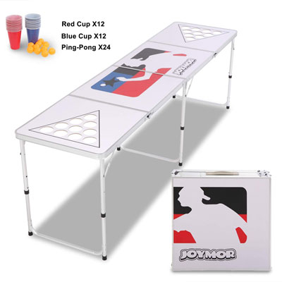 9. JOYMOR Beer Pong Table