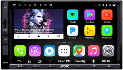 8. ATOTO A6 Android Car Navigation Stereo with Dual Bluetooth